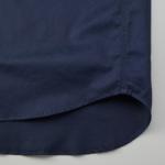 T/C生地のワークロングスリーブシャツ(ダークネイビー)の裾画像