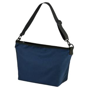ポリエステル素材のショルダーバッグ(ネイビー)