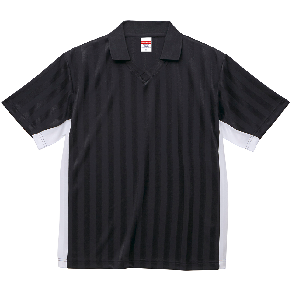 4.1オンスドライ素材のクラシックサッカーシャツ(ブラック/ホワイト)