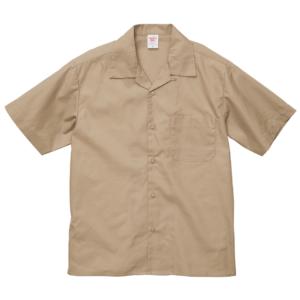 T/C オープンカラーシャツ(モカベージュ )