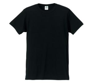 4.4オンス生地のトライブレンドTシャツの画像(ブラック)