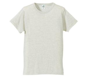 4.4オンス生地のトライブレンドTシャツの画像(オートミール)