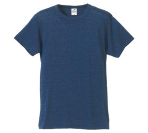4.4オンス生地のトライブレンドTシャツの画像(ヴィンテージヘザーネイビー)