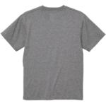 6.0オンス生地のオープンエンドヘヴィーウェイトTシャツの背面画像(ヘザーグレー)