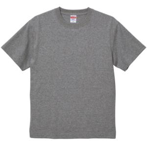 6.0オンス生地のオープンエンドヘヴィーウェイトTシャツの画像(ヘザーグレー)