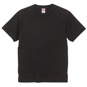 6.0オンス生地のオープンエンドヘヴィーウェイトTシャツの画像(ブラック)