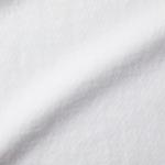 6.0オンス生地のオープンエンドヘヴィーウェイトTシャツの生地の拡大画像(ホワイト)