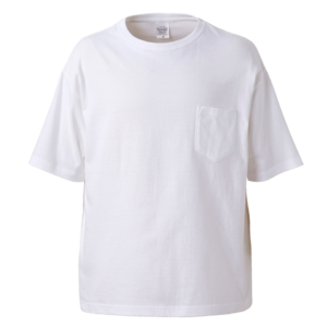 ポケット付のビッグシルエットTシャツの画像(ホワイト)