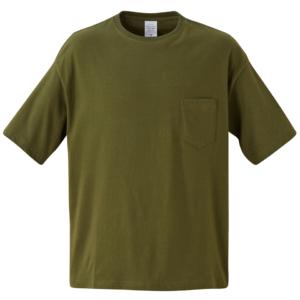 ポケット付のビッグシルエットTシャツの画像(シティグリーン)