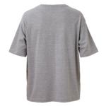 ポケット付のビッグシルエットTシャツの画像(ミックスグレー)の背面