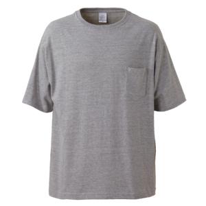 ポケット付のビッグシルエットTシャツの画像(ミックスグレー)