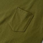 ポケット付のビッグシルエットTシャツのポケット画像(シティグリーン)