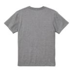 5.6オンスのハイクオリティーポケット付Tシャツ(ミックスグレー)の背面