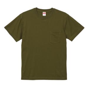 5.6オンスのハイクオリティーポケット付Tシャツ(シティグリーン)