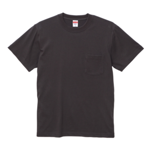 5.6オンスのハイクオリティーポケット付Tシャツ(スミ)