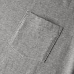5.6オンスのハイクオリティーポケット付Tシャツ(ミックスグレー)のポケット