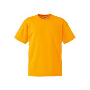 4.1オンスのドライアスレチック素材のTシャツ(ゴールド)