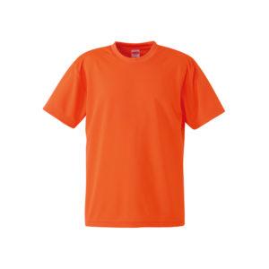 4.1オンスのドライアスレチック素材のTシャツ(カルフォルニアオレンジ)
