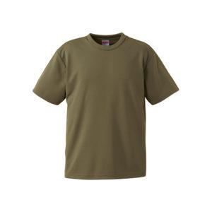 4.1オンスのドライアスレチック素材のTシャツ(オリーブ)