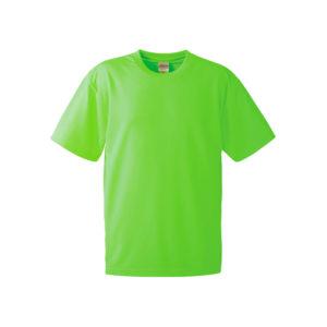 4.1オンスのドライアスレチック素材のTシャツ(蛍光グリーン)