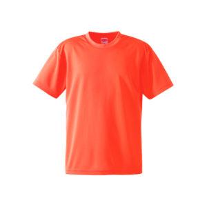 4.1オンスのドライアスレチック素材のTシャツ(蛍光オレンジ)