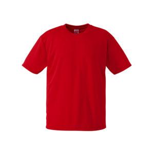 4.1オンスのドライアスレチック素材のTシャツ(ローズレッド)
