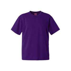 4.1オンスのドライアスレチック素材のTシャツ(ディープパープル)