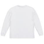 5.6オンス生地のビッグシルエットロングスリーブTシャツ(ホワイト)の背面