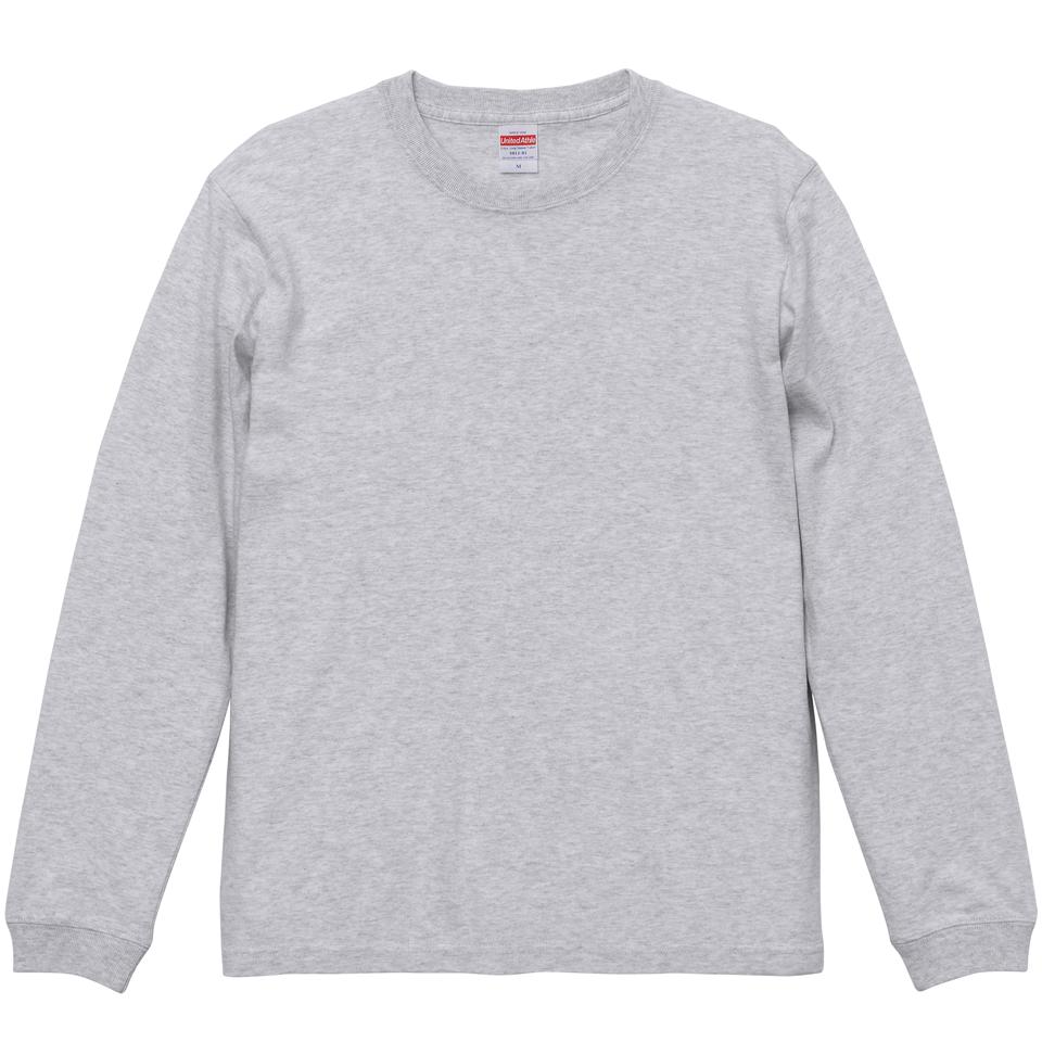 5.6オンスロングスリーブTシャツ(アッシュ)