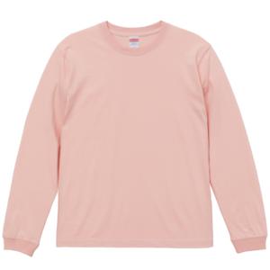 5.6オンスロングスリーブTシャツ(オフピンク)