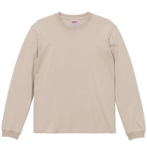 5.6オンスロングスリーブTシャツ(サンドベージュ)