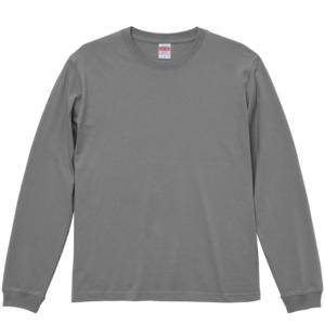 5.6オンスロングスリーブTシャツ(ストーングレー)