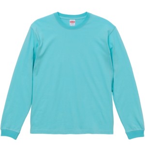 5.6オンスロングスリーブTシャツ(パステルエメラルド)